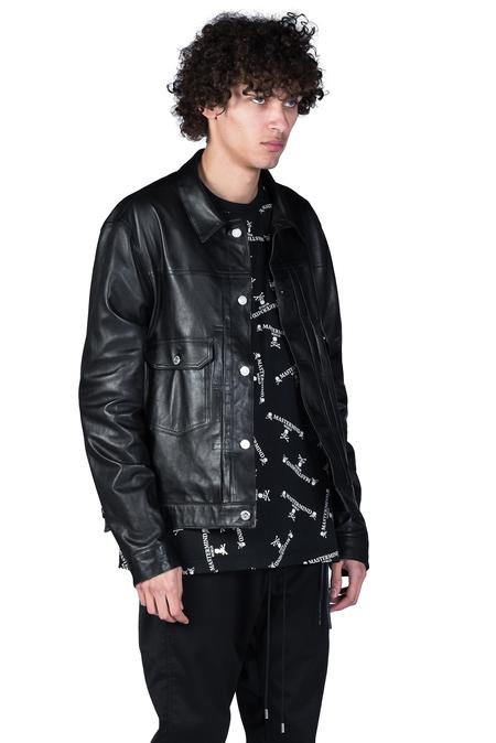 Mastermind World Lamb Leather Jacket - Black