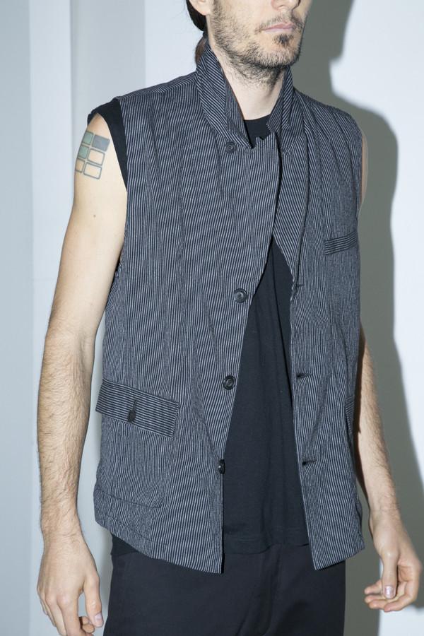 Men's Khadi & Co Striped Collared Waistcoat