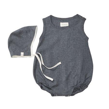 KIDS Bacabuche Bubble Romper & Bonnet Set - Charcoal