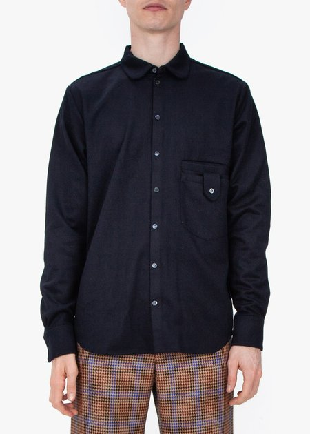 fomme Shirt - Navy Wool