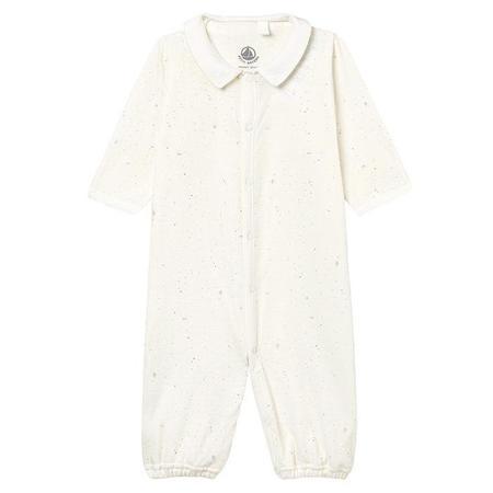 KIDS Petit Bateau Convertable Pyjamas And Sleepsac - White With Stars And Dots