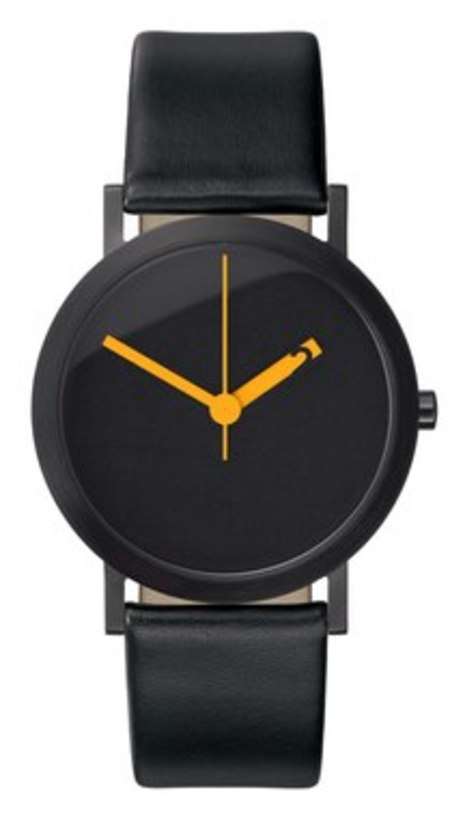 Extra Normal Timespieces Grande EN29-L20BL Watch - BLACK/AMBER