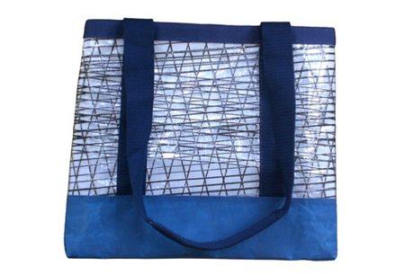 greener grass design SAIL CLOTH UTILITY BAG - blue