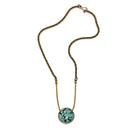 Laurel Hill Jewelry Amla Necklace // turquoise