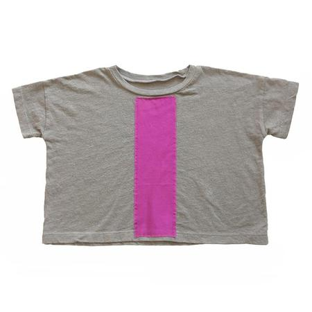KIDS Tambere T-shirt - Dim Grey/Purple Stripe