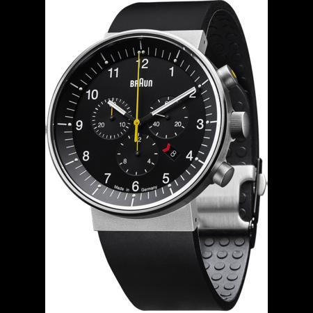 Braun Prestige Analog Watch - black rubber strap