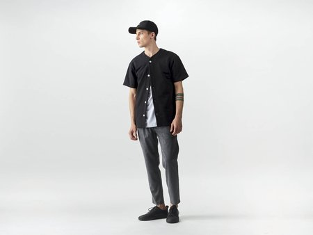 wemoto nero button shirt - black