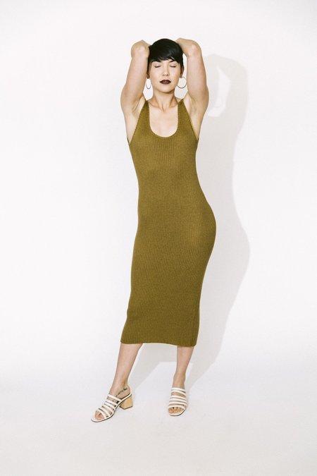 Ajaie Alaie somos dos slip dress - olive