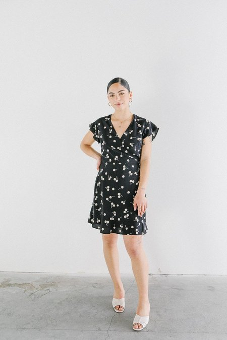 Rails Leanne Dress - Black/Cream Cherries