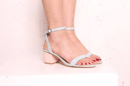 """INTENTIONALLY __________."" Semp Heel - Baby Blue"