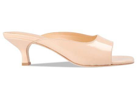 BY FAR Kosara Patent Leather Mule - Nude