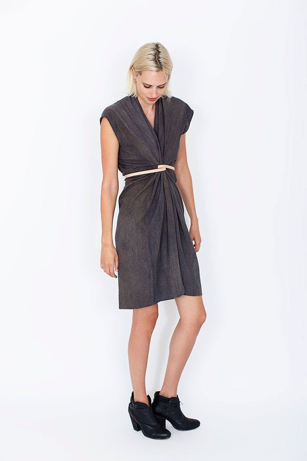Miranda Bennett Tempest Dress | Silk Noil in Coal