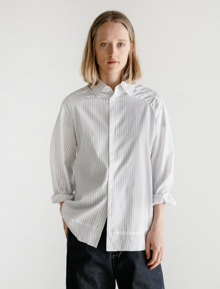Unisex Camiel Fortgens Striped Football Shirt - Grey