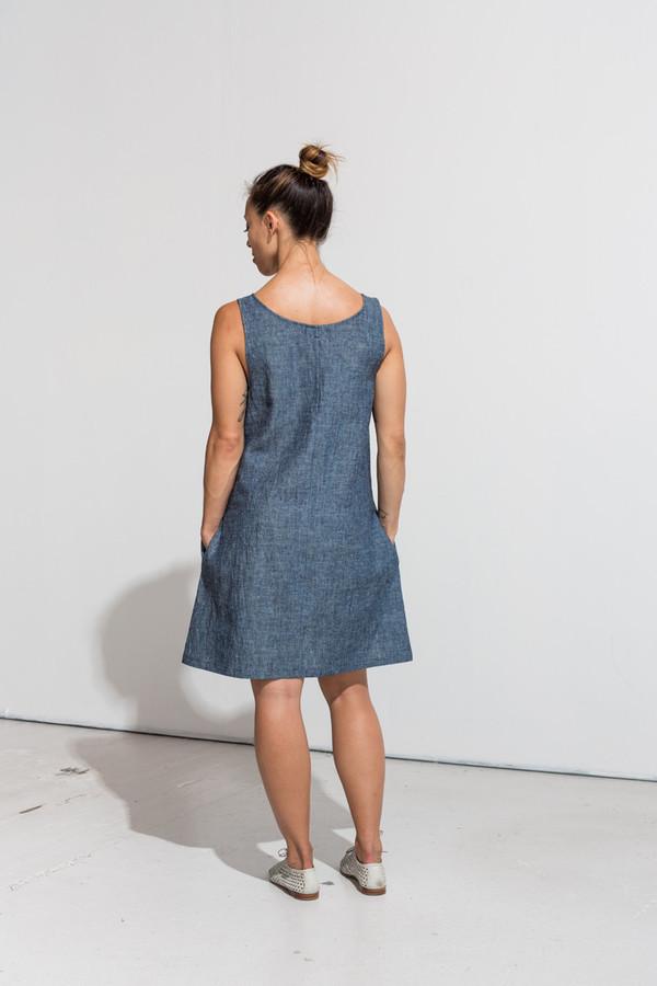 Nahanni Arntzen Franky dress- organic indigo