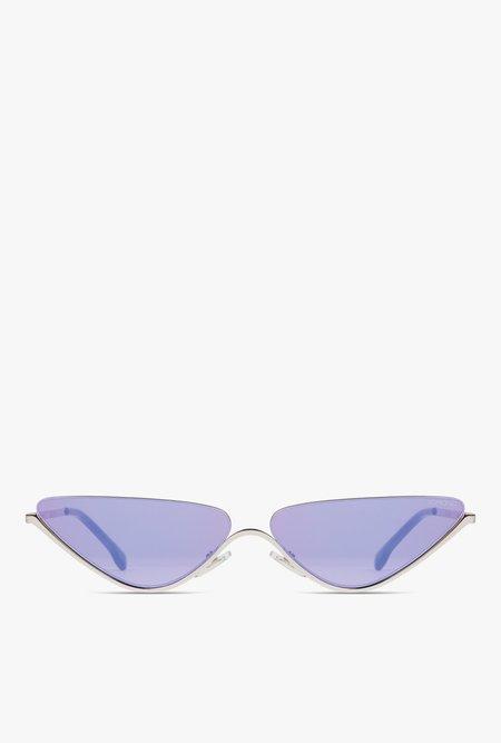 KOMONO Ash Sunglasses - Silver Amethyst