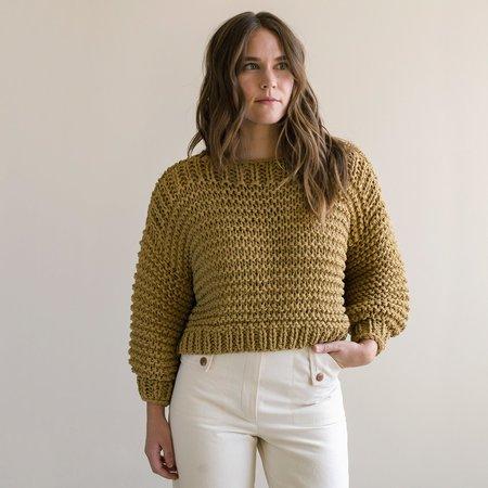 Hendrik.Lou Bateau Crop Sweater - Maize