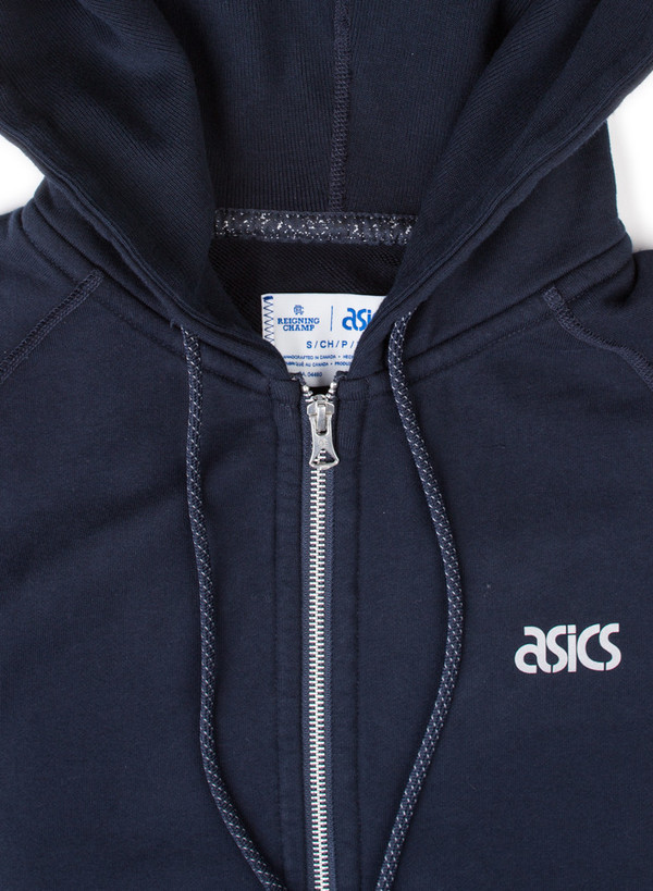Men's Reigning Champ Asics/RC Full Zip Hoodie Navy