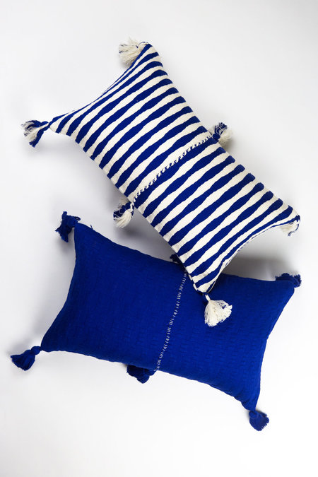 Archive New York Antigua Pillow - Royal Blue Solid