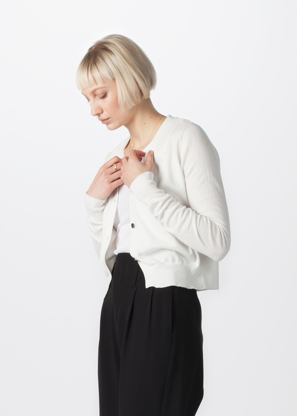 Organic by John Patrick Three Button Cardigan