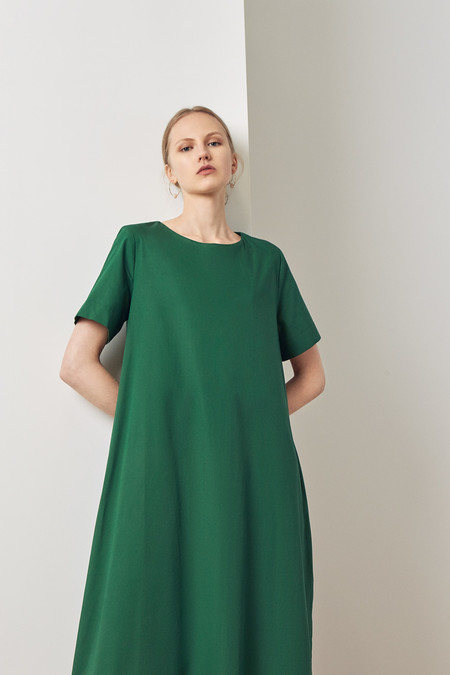Kowtow Triangle Dress - Evergreen