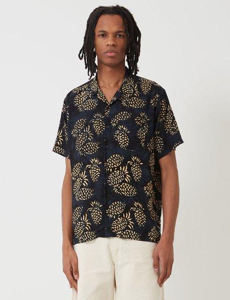 Stan Ray Kelapa Batik Pineapple Shirt - Black/Yellow