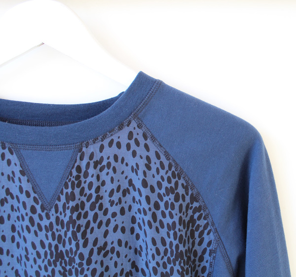 Custommade Blue Spotted Top