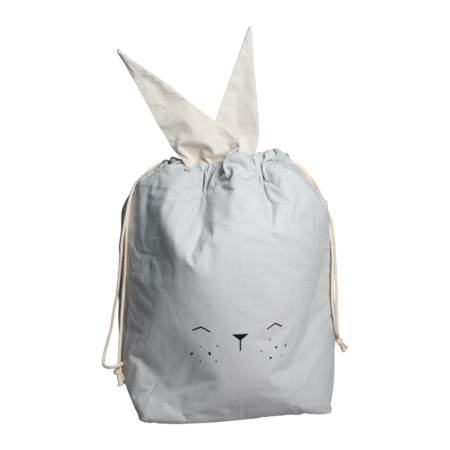 Kids Fabelab Bunny Storage Bag - gray