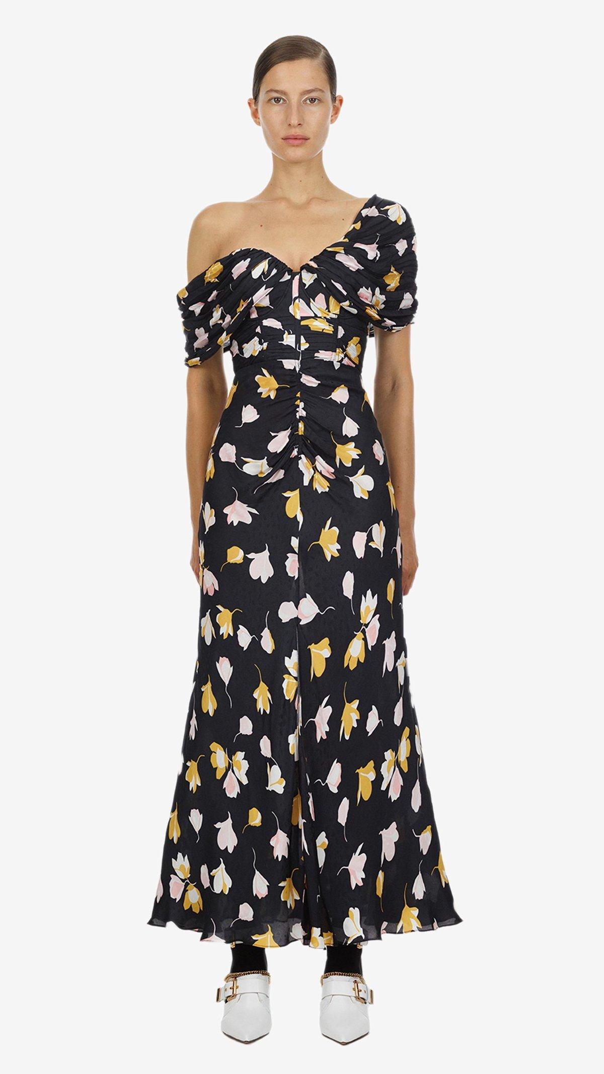 b91720383f3f Self-Portrait Off-Shoulder Dress - Floral Print   Garmentory