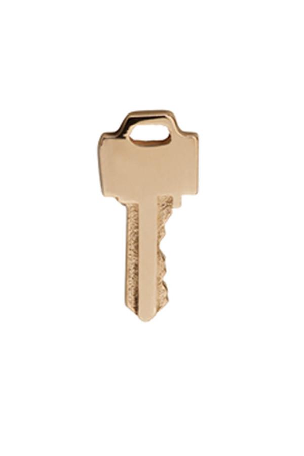 Lauren Klassen Tiny Key Earrings - Gold