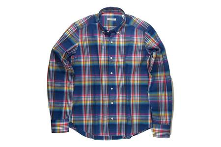 Milworks Kenton Shirt - Navy Plaid