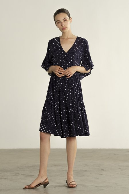 Maria Stanley GAYLE DRESS - dotted navy