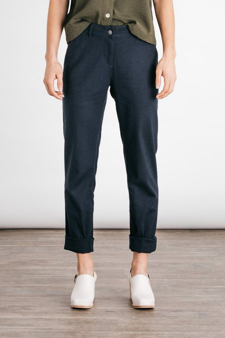 Bridge & Burn Linen Crop Market Pants - Navy
