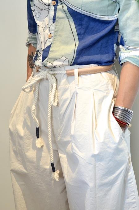 Unisex Made Solid Rope Belt - Indigo Tie Dye