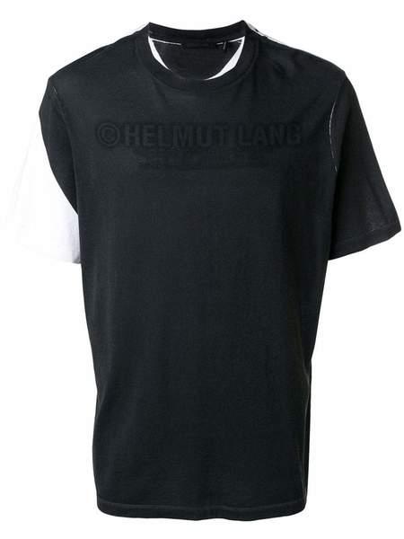 HELMUT LANG logo contrast T-shirt - WHITE/BLACK