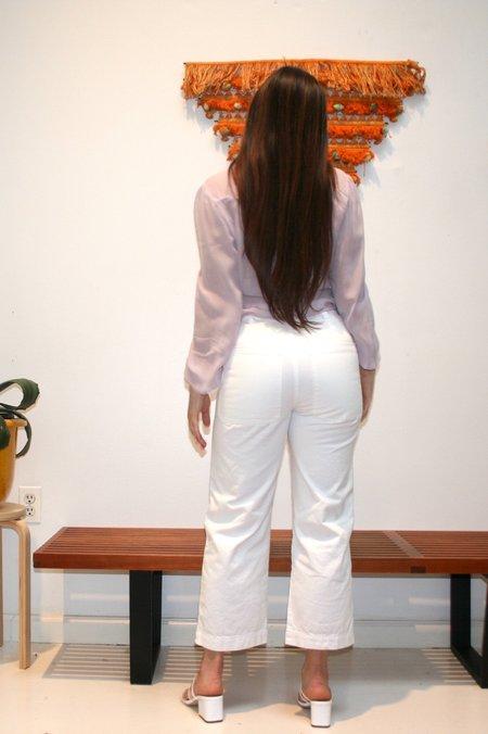 LACAUSA Brushed Stella Trousers - Whitewash