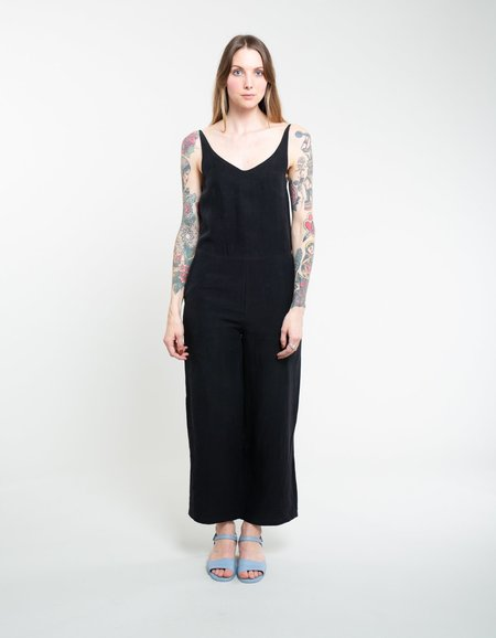 Assembly Label Wide Leg Jumpsuit - Black