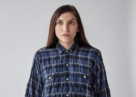 R13 Kimono Shirt - Blue/Yellow Plaid