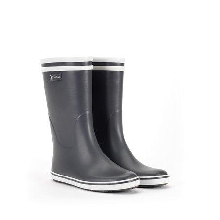 Aigle Malouine Rubber Boot - Charcoal