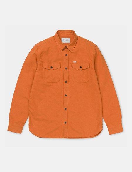 CARHARTT WIP Vendor Shirt - Persimmon Heather Orange