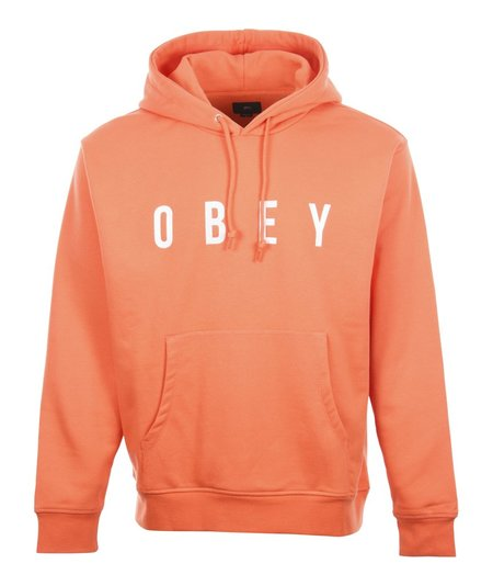 Obey Way Hood Sweat - Coral