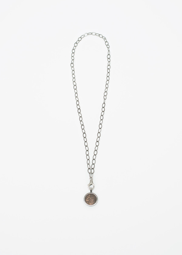 Jewels by Piper Copper Coin Diamond Necklace