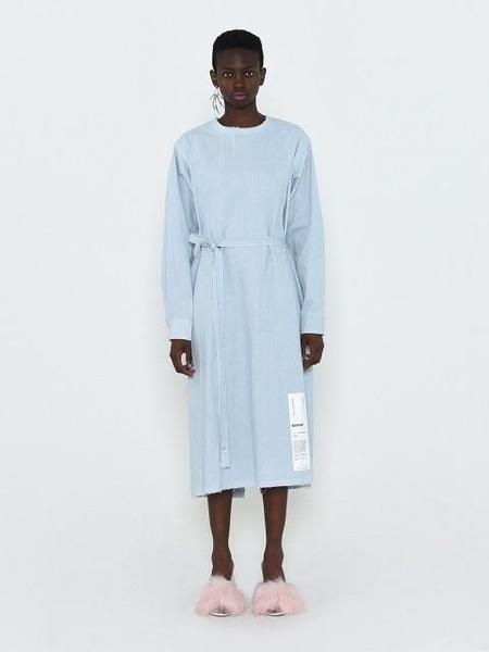 BADTASTE Open Back Denim Long Dress