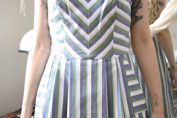 Birds of North America Minivet Dress (Blue/Green)
