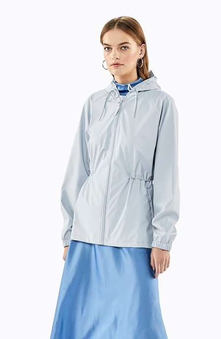 Rains W Jacket - Metallic Ice Grey