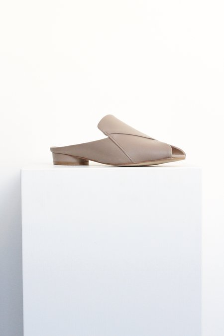 """""""INTENTIONALLY __________."""" Fortune Slip on Sandal - Taupe"""