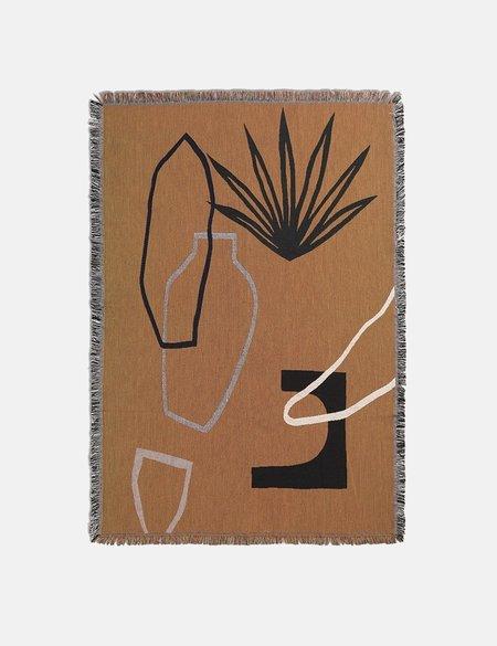 Ferm Living Mirage Blanket - Mustard