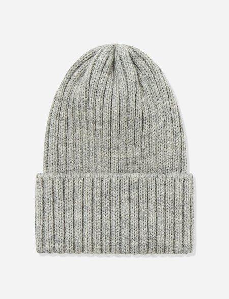 Highland Headwear Highland Wool Rib Beanie Hat - Light Heather Grey