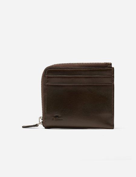 Il Bussetto Small Leather Zip Wallet - Dark Brown