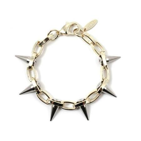 Joomi Lim Single Row Spike Bracelet - Gold/Rhodium