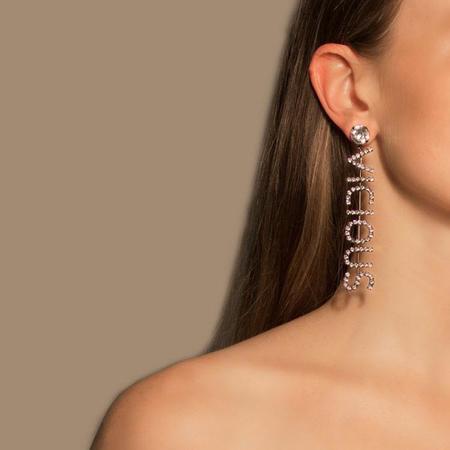 Joomi Lim VICIOUS COBRA Earrings - Hematite/Crystal